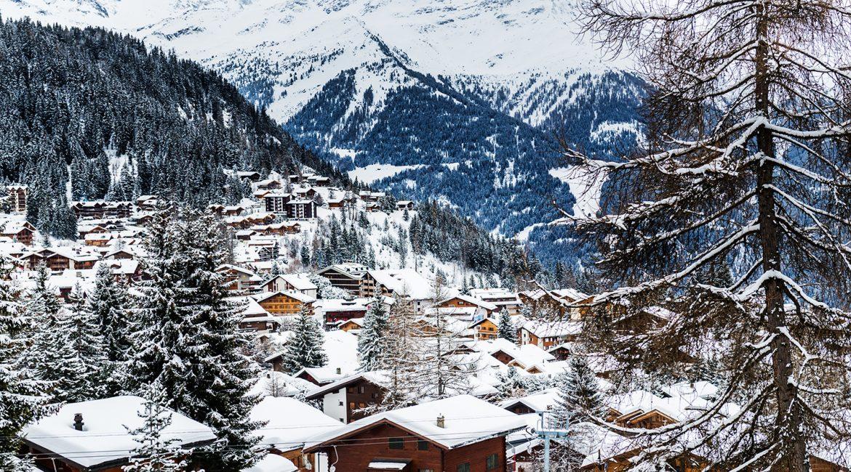 Photo d'une station de ski