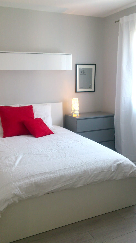 photo d'une chambre décorée par pauline déco avec du mobilier ikéa