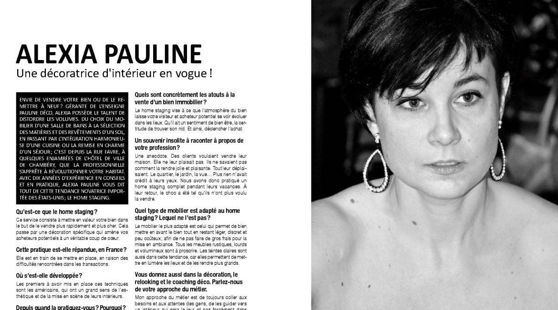 oh magazine - interview Alexia PAULINE